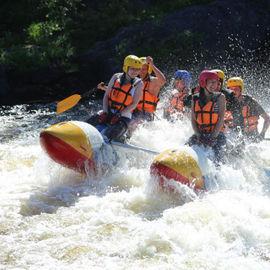 Сплав по реке Тумча на катамаранах