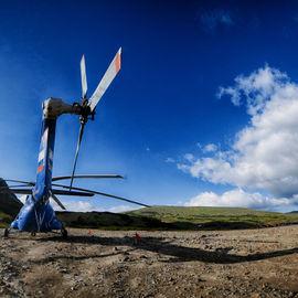 Вертолетная экскурсия на Курильское озеро, кальдеру вулкана Ксудач и Ходуткинские горячие источники