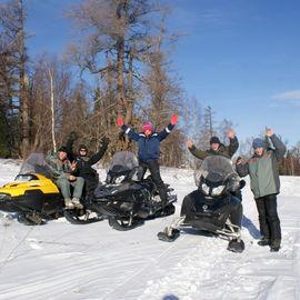 Снегоходный тур на Абакан и Бедуй