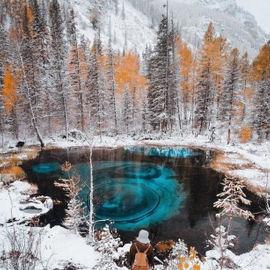 Зима Горного Алтая