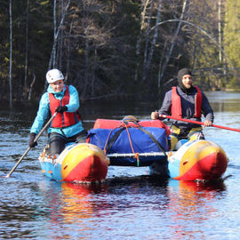 Большая вода: сплав на катамаранах по рекам Лоймола и Укса