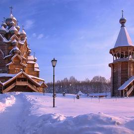 Волшебство зимних Кижей