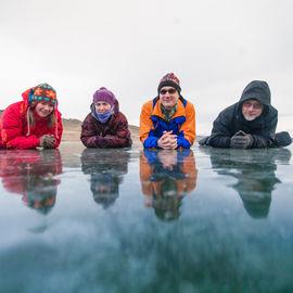 Хрустальный лёд Байкала и горячие источники Тункинской Долины