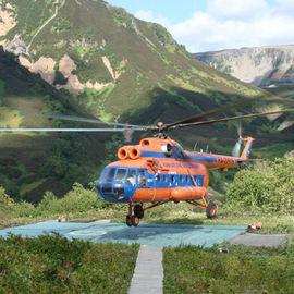 Вертолетная экскурсия в Долину Гейзеров, Налычевские термальные источники и кальдеру вулкана Узон