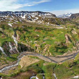 Вертолетная экскурсия в Долину Гейзеров и Налычевские термальные источники